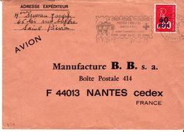 Reunion  : CFA 430 Sur Lettre Oblitération St Pierre 1975 Croix Rouge - Réunion (1852-1975)
