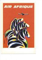 25519 - AURIAC N° 7 Air Afrique Zèbres (format 10X15) - Autres Illustrateurs
