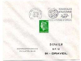 TOMBOLAS AUTOMNE 84 AVIGNON GARE 1970 = FLAMME à DROITE = SECAP ' TOMBOLAS AUTOMNE Caisse EPARGNE ' - Postmark Collection (Covers)
