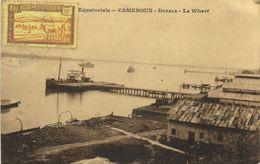 Afrique Equatiriale CAMEROUN  Douala Le Wharf + Beau Timbre 10c Cameroun RV - Camerún