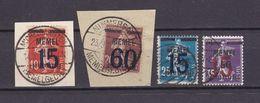 Memelgebiet - 1921 - Michel Nr. 34/35 + 47/48 - Gestempelt - Memel