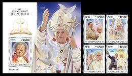 Sierra Leone. 2020  100th Anniversary Of John Paul II. (205) OFFICIAL ISSUE - Papas
