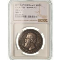 Allemagne, Médaille, Séjour De L'archiduc à Hambourg, 1877, Piéfort - Deutschland