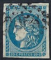 FRANCE 1871: Le Y&T 46B, 4 Belles Marges,  Obl. GC 2056 (Lisieux),  TTB - 1870 Uitgave Van Bordeaux