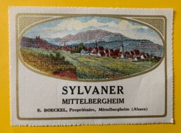 15118 - Alsace  Sylvaner Mittelbergheim E.Boeckel - Etiquetas
