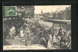 CPA Amiens, Marché Sur L'eau - Amiens