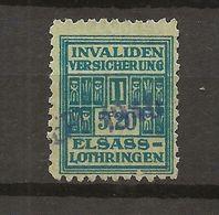 FISCAUX  FRANCE SOCIO-POSTAUX D'ALSACE LORAINNE N°169 5F20 Bleu Cote 30€ - Revenue Stamps