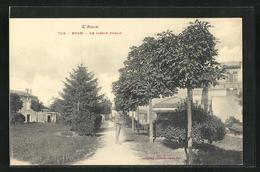 CPA Bram, Le Jardin Public - Bram