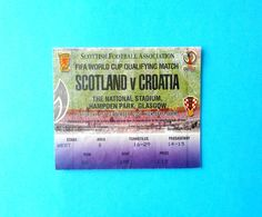 SCOTLAND V CROATIA - 2002 FIFA WORLD CUP Qualif. Football Match Ticket * Soccer Fussball Calcio Croazia Kroatien Croatie - Tickets D'entrée