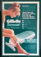 Gillette Sensor Shave Cosmetique Carte Postale - Perfume Cards