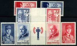 Francia Nº 565/66a, 571A. Año 1942/3 - Francia