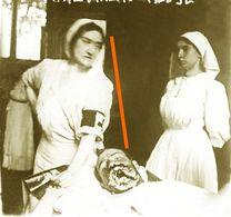 Photo 1914-18 Gueules Cassée Et Infirmiere - 1914-18