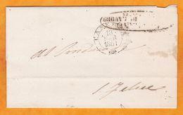 1861 - Enveloppe Pliée De Caserta Près De Naples Napoli, Italie Vers San Felice A Cancello - Marcophilie