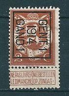 PREO 51 Op Nr 109 GENT I 1914 GAND I - Positie B (zie Opm) - Precancels