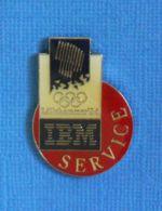 1 PIN'S //  ** JO LILLEHAMMER '94 / IBM SERVICE ** . (©1991 LOOC All Rights Reserved) - Informatique