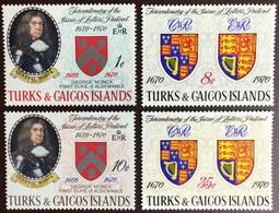 Turks & Caicos 1970 Tercentenary Of Letters Patent MNH - Turks- En Caicoseilanden