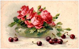 C. KLEIN - Fleurs - Roses, Cerises - Klein, Catharina