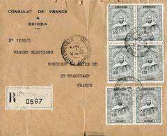 Philatelie .n° 10 . Timbres Algerie Obliteres. Cachet Philippeville Constantine 1971 . - Algérie (1962-...)