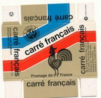 G F 88  / ETIQUETTE DE FROMAGE  -  BOITE EN CARTON  CARRE  FRANCAIS  ROUSTANG  FABRIQUE EN LORRAINE  MEUSE - Käse