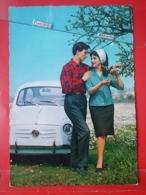 KOV 20-33 - COUPLE, COUPLES, Par, Embraced, Adopté, Abrazado, Ljubav, Amor, Amour, Auto Fiat - Coppie