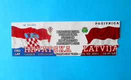 CROATIA V LATVIA - 2002 FIFA WORLD CUP Qualif. Football Match Ticket * Soccer Fussball Calcio Kroatien Croazia Croatie - Tickets D'entrée