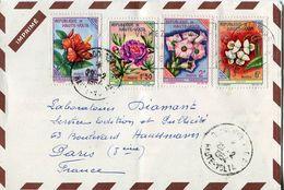 Philatelie .n° 11 . Timbres Haute Volta Obliteres. Cachet Ouagadougou 1964. Enveloppe Publicitaire . - Collections, Lots & Séries