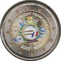 FR20012.3 - FRANCE - 2 Euros Commémo. Colorisée 10 Ans De L'Euro - 2012 - France