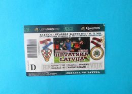 CROATIA V LATVIA - 2012 UEFA EURO Qualif. Football Match Ticket * Soccer Fussball Calcio Kroatien Croazia Croatie - Tickets D'entrée