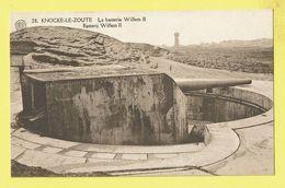 * Knokke Zoute - Knocke (Kust - Littoral) * (Albert, Nr 28) La Batterie Willem II, Canon, Guerre, Dunes, War, Arme, TOP - Knokke