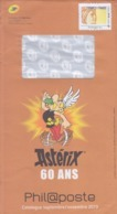 Enveloppe Entier International  250g  Catalogue Phil@poste Astérix 60 Ans Septembre-Novembre 19 - Enteros Administrativos