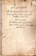 De 1663 à 1667  REPERTOIRE Registres Des Baptèmes De  MANE 04 Ainsi Que Les Mariages Et Morts Jusqu'en 1700 36 Pages - Documentos Históricos