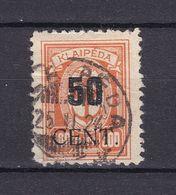 Memelgebiet - 1923 - Michel Nr. 200 - Gestempelt - 20 Euro - Memel (Klaïpeda)