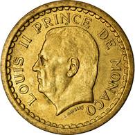 Monnaie, Monaco, 2 Francs, Undated (1943), SUP, Aluminum-Bronze, Gadoury:MC 134 - Monaco