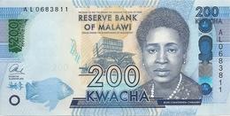 MALAWI 200 KWACHA 2016 UNC P 60 C - Malawi