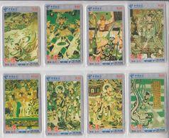 CHINA 2003 ART SET OF 8 PHONE CARDS - Malerei