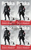 POLAND 2016  National Army AK Cursed Soldiers Block Of Four Canceled - 1944-.... Republic