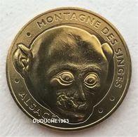 Monnaie De Paris 67.Kintzheim - Montagne Des Singes - Tête De Macaque 2012 - Monnaie De Paris