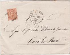 9442 Eb.   Busta Collegio Militare Di Messina Turi Di Bari 1889 - Cotrone Napoli Ambulante - Marcophilie