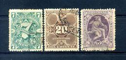 1894 URUGUAY N.95+97+99 USATO - Uruguay