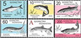 Kazakhstan 2020. Fish. Set Of 6 Stamps. New!!! - Kasachstan