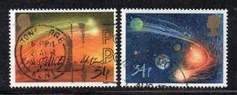 Y2250 - GRAN BRETAGNA 1986, Unificato 31p+34p N. 1216+1217 Usato (2380A) Halley - 1952-.... (Elizabeth II)