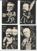 Série 21 Cartes Caricatures Hommes Politiques Du Rhône - Ohne Zuordnung