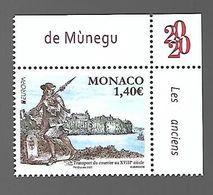 Monaco 2020 - Yv N° 3234 ** - Europa - Les Anciennes Routes Postales - Ungebraucht