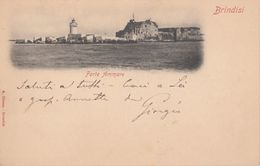 ITALY - Brindisi 1903 - Forte Ammare - Forte A Mare - Ambulante Brindisi Ancona Cancel - Brindisi