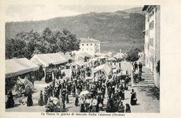 A VOIR ! VERONA 1918 LA PIAZZA IN GIORNO DI MERCATO BADIA CALAVENA ITALIE ITALIA - Verona