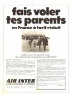 "PUB "" AIR INTER ""   1969 ( 1 ) - Advertisements"