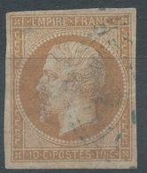 Lot N°56573   N°13B, Oblit Cachet étranger Perlé Bleu De Mersina Turquie D'Asie, Bonnes Marges. - 1853-1860 Napoléon III