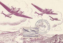 Carte Maximum - Exposition Philathélique Poste Aérienne 1943 - France