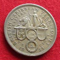 British Caribbean Territories 50 Cents 1955 KM# 7  Caribbean Caraibas Caraibes Orientales - Caribe Oriental (Estados Del)