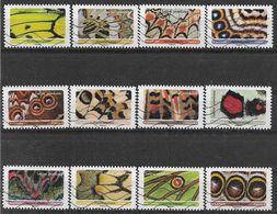 2020 FRANCE Adhesif 1801-12 Oblitérés, Papillons, Série Complète - Sellos Autoadhesivos